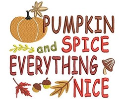 Pumpkin Spice embroidery design
