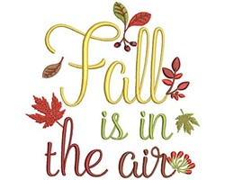 Fall Is In The Air embroidery design