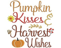 Pumpkin Kisses & Harvest Wishes embroidery design