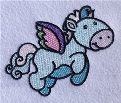 Cartoon Pegasus embroidery design
