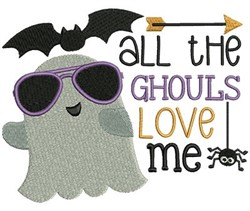 The Ghouls Love Me embroidery design