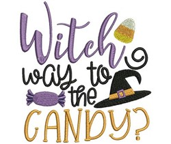 Witch Way To The Candy embroidery design