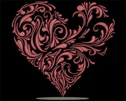 Heart Vine embroidery design
