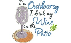 Im Outdoorsy embroidery design