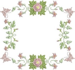 Butterfly Roses embroidery design
