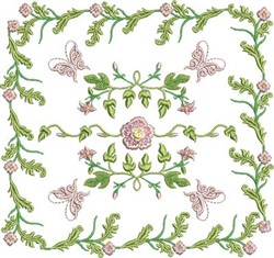 Butterfly Square embroidery design