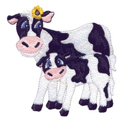 Cow And Calf embroidery design