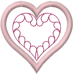 Quilted Feather Heart embroidery design