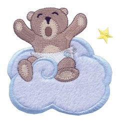 Lazy Bear Applique embroidery design