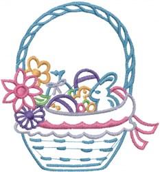 Spring Easter Basket embroidery design