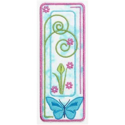 Spring Bookmark embroidery design