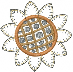 ITH Sunflower Brooch embroidery design