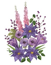 Snapdragon Bouquet embroidery design