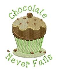 Chocolate Never Fails embroidery design