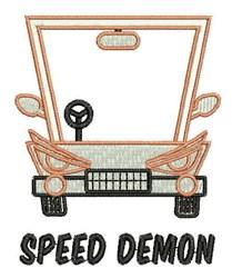 Speed Demon embroidery design