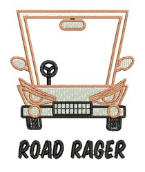 Road Rager embroidery design