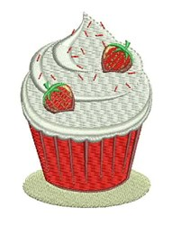 Strawberry Cupcake embroidery design