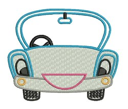 Happy Car embroidery design