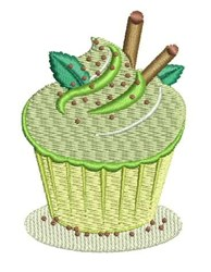 Key Lime Cupcake embroidery design