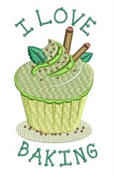 I Love Baking embroidery design