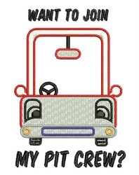 Join Pit Crew embroidery design
