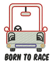 Born To Race embroidery design