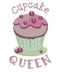 Cupcake Queen embroidery design