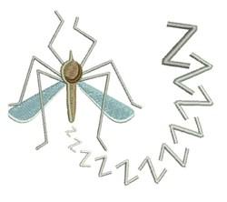 Mosquito embroidery design