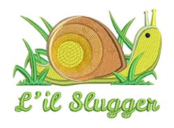 Lil Slugger embroidery design