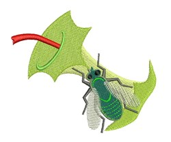 Fly & Apple embroidery design