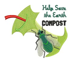 Earth Compost embroidery design