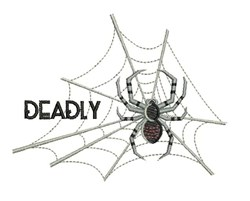 Deadly Spider embroidery design