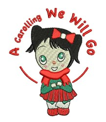 A Carolling embroidery design