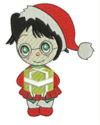 Gift Girl embroidery design