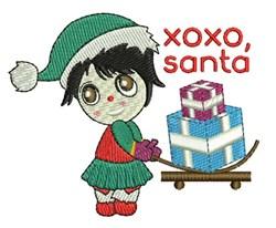 XOXO Santa embroidery design