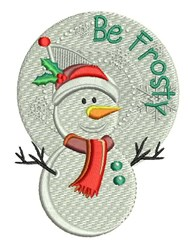 Be Frosty embroidery design