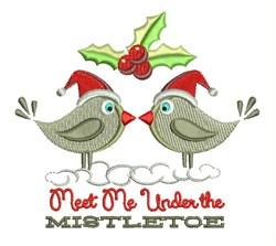 Under The Mistletoe embroidery design