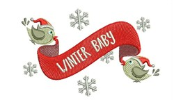 Winter Baby embroidery design