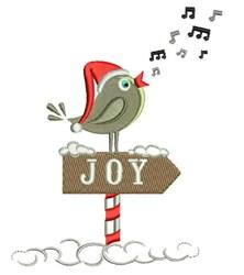 Joy Bird embroidery design