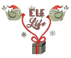 Elf Life embroidery design