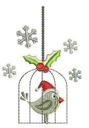 Holiday Bird embroidery design