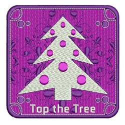 Top The Tree embroidery design