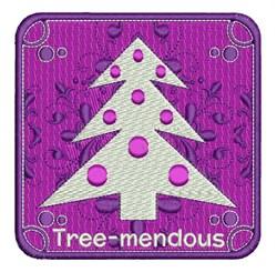 Tree-mendous embroidery design