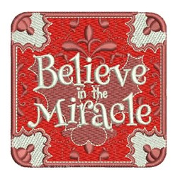 Believe In Miracle embroidery design