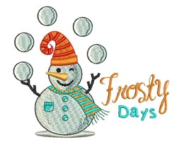 Frosty Days embroidery design