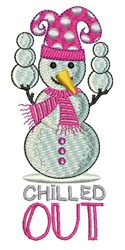 Chilled Out embroidery design