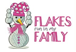 Flakes In My Family embroidery design