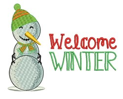 Welcome Winter embroidery design