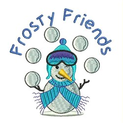 Frosty Friends embroidery design
