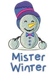Mister Winter embroidery design
